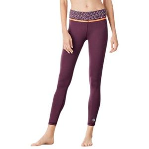 Tory Burch Tory Sport Wine Burgundy Leggings